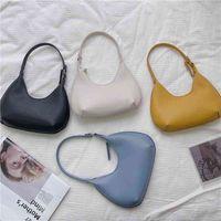Ins Korean fashion creative handbag trend one shoulder frosted dumpling underarm