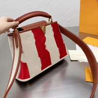 Женская сумочка мода сумка на плечо красочные полосатые полосатые сумки для вышивки писем цветок плетеной кожаной верхней ручкой съемный ремешок катушки сумки
