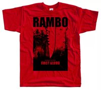 Rambo First Blood красная футболка Tee Movie Pragter Stallone Все размеры с до 5XL