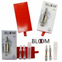 Bloom Cam Arabaları Atomizer Seramik Bobin Premium Sos Sepeti Vape Kartuşları 0.8ml 1 ml Boş 510 Konu Kalın Yağ Kartuşu Ambalaj Buharlaştırıcı