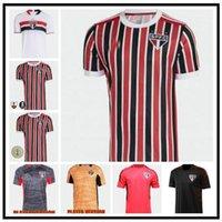 Oyuncu Hayranları Sürüm 2021 2022 Sao Paulo Uzakta Futbol Formaları Luciano Liziero Pato Pablo Dani Alves 20 21 22 Futbol Erkekler Polo Set Gömlek
