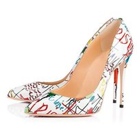 Beautiful Fashion, Printed Lacquer Leather, About 12 Cm High-heeled Women's Shoes, Pointed Toe Pumps, Single Dress Shoes