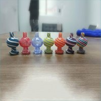 25mm OD Colorful Glass Bubble Carb Caps For Smoking Flat Top Quartz Banger Nails Silicone Nectar Collectors Water Pipes Bongs Pipe Dab Rigs