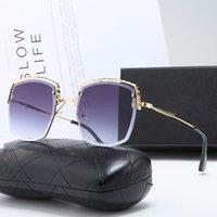 Lunettes de soleil design polarisées de luxe de la marque Mens femmes Pilote Sunglass UV400 lunettes de lunettes de lunettes de lunettes en métal lunettes de soleil