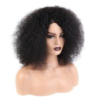 Необработанные бразильские афро странные кудрявые 100% человеческие волосы парик 4 * 4 кружева закрываются для черных женщин