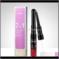 LIPS Maquillage Health Beauty Drop Drop Livraison 2021 Coupe antiadhésive Mat Gloss Line Line Deux en une haute qualité 12 couleurs Femmes Lipstick Glaze Long