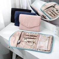 Worzaki biżuterii, torby składane pudełko do przechowywania Podróży Organizator Roll Kolczyki Ring Naszyjnik Torba Dla Kobiet Girl Prezent