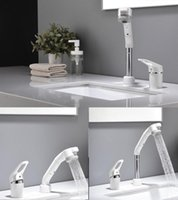 Bathroom Sink Faucets Fashion Basin Modern White Widespread Faucet Cold And Japan Style Wash Hair Elevate Tap