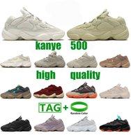 Новейшие женщины мужские kanye 500 повседневные туфли бегут 500s taupe свет Enflame мягкое видение кроссовки утилита черная кость белые каменные кроссовки кроссовки yezys yezzy размер 36-46
