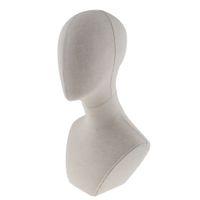 20 Inç Tuval Blok Manken Başkanı Ekran Standı Manken Kafa Modeli Peruk Yapma veya Takı Kolye Ekran için - Beyaz