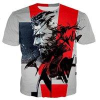 Camisetas para hombres Juego Metal Gear Solid 3D Imprimir camiseta 2021 Hombres Mujeres Moda de verano Casual Harajuku Style T Shirts Hip Hop Streetwear Tops