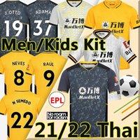 20 21 Kurtlar Futbol Forması Neves Raul fans player version 2020 2021 Ada Fábio Silva Podice Neves Futbol Gömlek Otto Futbol Gömlek Erkekler + Çocuk Kiti Üniformaları