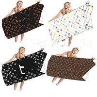 Письмо вскользь стиль стиль пляжное полотенце мода летние банные полотенца высокого качества классический дизайн домашний подарок