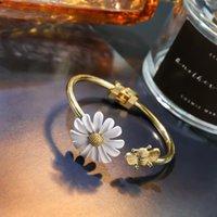Korea Bee Small Daisy Charm Bracelet Gold Adjustable For Women Girls Party Jewelry Gift Bracelets