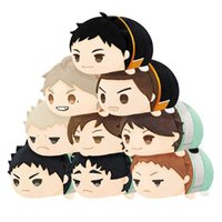 Haikyuu !! Animate Peluş Bebek Oyuncakları Çocuklar için Tahsil Aoba Joohsai Oikawa Tooru Karasuno Sugawara Koushi Sevimli Pamuk Kolye Oyuncak G0913