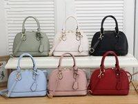 최고 품질의 여성용 핸드백 Alma BB 쉘 럭셔리 핸들 귀여운 가방 Damier Ebene Crossbody 특허 가죽 디자이너 어깨 가방 멀티 컬러 선택