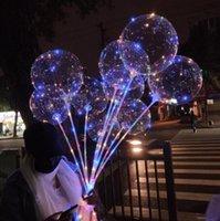 LED Lights Balloons Night Lighting Bobo Ball Multicolor Decoration Balloon Wedding Decorative Bright Lighter With Stick