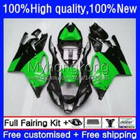 Body de moto pour Aprilia RSV1000R Mille RSV 1000 R 1000R 03 04 05 06 COWLING 9NO.49 RSV1000RR RV60 RSV-1000 RSV1000 R RR 2003 2004 2005 2006 Catériel Vert Black Kit noir