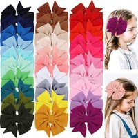 Girls Hair Accessories Hairclips Bb Clip Kids Barrettes Clips Childrens 3.5-Inch Hairpin Bow Children's 30 Color