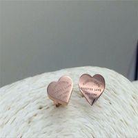 Vendita calda per sempre orecchini d'amore 316L acciaio inox Acciaio inossidabile orecchini orecchini heart sharpe orecchini per le donne uomini coppie belle jewlery 1270 q2