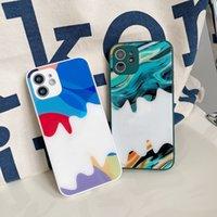 Flüssige Glasscell-Telefon-Fälle für iPhone 12 Pro Max 11 XS XR 7/8 Plus Mode Creative Trend