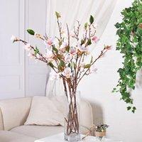90 cm Magnolia Magnólia Flores Artificiais Longo Haste Plástico Flower Flower Ramo Vaso Arranjo Home Table Party Decor decorativo