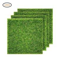 인공 식물 벽 잔디 패널 울타리 홈 정원 배경 장식 녹색 카펫 잔디 정글 파티 용품 가짜 매트 장식 꽃 WR