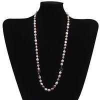 ブレスレットネックレス多色の淡水真珠のゴールドビーズジュエリーセット毎日の着用パーティギフトセーターチェーン長い