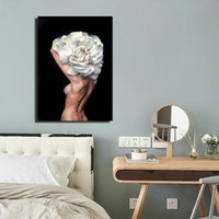 40x60cm 페인트 추상 현대 꽃 여성 DIY 유화 번호 캔버스 홈 장식 그림 그림 선물 OOD6234