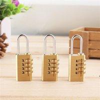 4 Digit Dial Brass Password Code Lock Mini Combination Suitcase Luggage Bag Metal Padlock Sports Locke Toolbox Case DHB7293