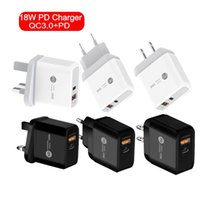 18W QC3. 0 Fast Quick PD Type c wall charger For Iphone Samsu...