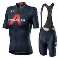 Yeni Kadın Ineos Grenadier Bisiklet Kısa Kollu Jersey Seti Yaz Nefes Spor Takım Elbise MTB Bisiklet Giyim Kadın Bisiklet Giysileri