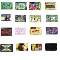 Diseño de dibujos animados Bandeja Rolling Raw Bob Marley 40 estilos Fumar Accesorios Cigarette Tabaco Hierba Grinder Plate 180 * 125 * 15mm para la cuenca de almacenamiento del desorden para el hogar