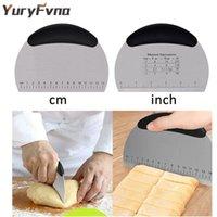 yuryfvna الفولاذ المقاوم للصدأ المعجنات مكشطة المروحية الدقيق العجين القاطع مع أدوات أداة الخبز البيتزا