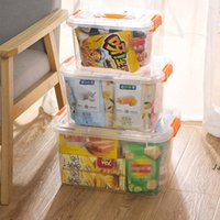 Plastic Storage Box Clear Storages Bins Transparent Plastics Stackable Container With Lid Home Supplies Organization DWA5139