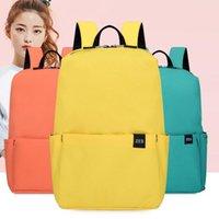 Zaino Alla moda Piccolo tessuto Oxford Borsa a pressione spruzzata per uomini e donne Light Solid Color Student Schoolbag -3 Taglie