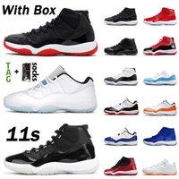 Kutu stock x nike air jordan retro 11 jordans 11s Orijinal Erkek Kadın Basketbol Ayakkabıları 11 Concord High 11s Jumpman Sneakers Düşük Barons SatenÜrdünRetro hava eğitmeni
