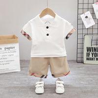 2 ADET Erkek Yaz Giysileri Setleri Çocuk Moda Gömlek Şort Kıyafetler 0-5 Yıl için Bebek Bebek Yürüyor Eşofmanlar için Kıyafetler