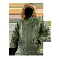 남성용 겨울 재킷 남성용 모피 칼라 후드와 따뜻한 남성 파카 슬리브 군사 캐나다 복어 복용 자켓 코트 2020 N3B