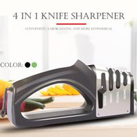 Knife Sharpener 4 in 1 Diamond Coated&Fine Rod Knife Shears and Scissors Sharpening stone System Stainless Steel Blades #3