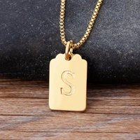Chains Personalize A-Z Letter Alphabet Pendant Necklace Gold Chain Initial Necklaces Charms For Women Jewelry Drop