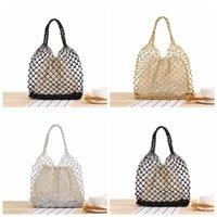 Вязаные сумки для сумок пляжная сумка сплошной цветной кантух ручной крючок тканые сумки рыболовные чистые большие размеры сетки сетки вязаные сумочка Hansenne Girl GWC7524
