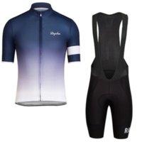 Rapha Pro Takım Bisiklet Giyim Erkekler Bisiklet Seti Bisiklet Giyim Nefes Anti-UV Bisiklet Giyim / Kısa Kollu Bisiklet Forması Setleri