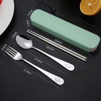 Smile Flatware Наборы Ужин из нержавеющей стали Ужин Западный Нож Вилка Чайная ложка Посуды Посуда Посуда Курортные Дорожки Морской корабль HHE5835