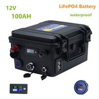 12 فولت 100ah lifepo4 بطارية ليثيوم أيون للماء العاكس، قارب المحرك