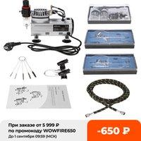 Kit di aerografo professionale con compressore d'aria Dual-Action Hobby Spray Spray Air Brush Set Tattoo Nail Art Phin Ply Phin Brush