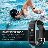 Smarth bracelets Band Hommes Femmes Sport Montres Fitness Tracker Podomètre Récompense cardiaque Smart