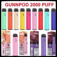 Gunnpod 2000 Puffs Disposable Vaporizer E Cigarette Deivce With 1250mAh 18350 Battery 8ml Pod Gunpod Smoking Vapes Kit