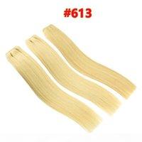 10A Grade Quality Double Drawn #60 #613 Blonde Brazilian Straight Human Hair 3pcs 80g pcs Brazilian Human StraightHair Weave Bundles