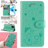 3D-Muster-Flip-Hüllen für iPhone 12 Mini 11 PRO MAX XR XS X 6 6S 7 8 plus 4 5C 5S SE Leder-Karten-Slot-Stand-Wallet-Abdeckung